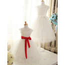 Stunning A-Line Square Satin Organza Flower Girl Dresses with Sashes