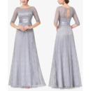 2018 New Long Lace Mother of the Bride Dresses with Half Sleeves