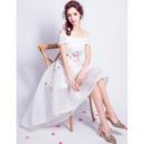 Custom Off-the-shoulder High-Low Short Petite Wedding Dresses
