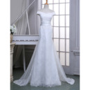 Elegant Sheath Off-the-shoulder Floor Length Lace Wedding Dresses