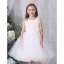 2019 New Style Ball Gown Knee Length Organza Flower Girl Dresses