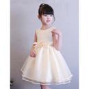 2019 Style Ball Gown Mini/ Short Flower Girl Dresses for Wedding