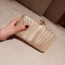 Satin Pleated Evening Handbags/ Purses/ Clutches