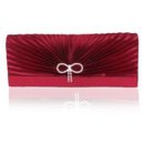Silk Pleated Wedding Party Evening Handbags/ Purses/ Clutches