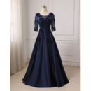 Discount Floor Length Prom/ Party/ Formal Dress with 3/4 Long Sleeves