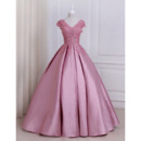 Elegant Ball Gown V-Neck Floor Length Prom/ Quinceanera Dresses