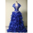 Affordable Sweetheart Ruffle Skirt Prom/ Quinceanera Dress with Jacket
