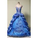 Elegant Spaghetti Straps Floor Length Prom/ Quinceanera Dresses