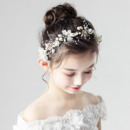 Pearl Flower Girl Hoop Hairband Headband Hair Accessory for Wedding