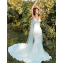 2019 New Style Mermaid Spaghetti Straps Long Satin Wedding Dresses