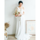 2020 New Style Asymmetric One Shoulder Long Chiffon Bridal Dresses