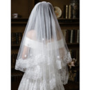 2 Layers 150cm Tulle with Embroidery White Wedding Veils