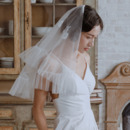 2 Layers Mid-Length Tulle with Lace White Wedding Veils