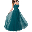 Inexpensive A-Line Sweetheart Floor Length Chiffon Bridesmaid Dresses